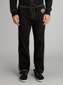 Drawstring Tracksuit Bottoms With Embroidered Log
