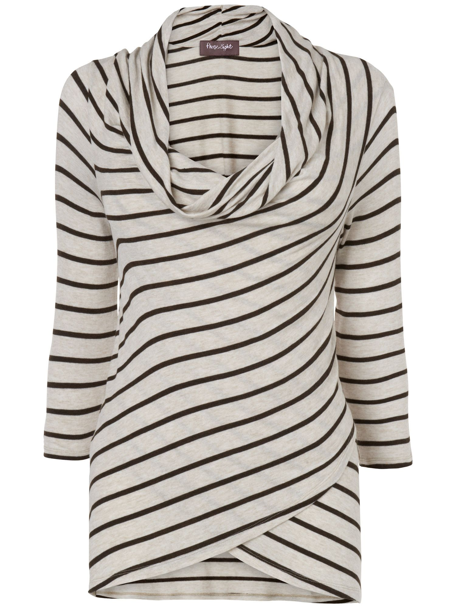 Jessie cowl stripe top
