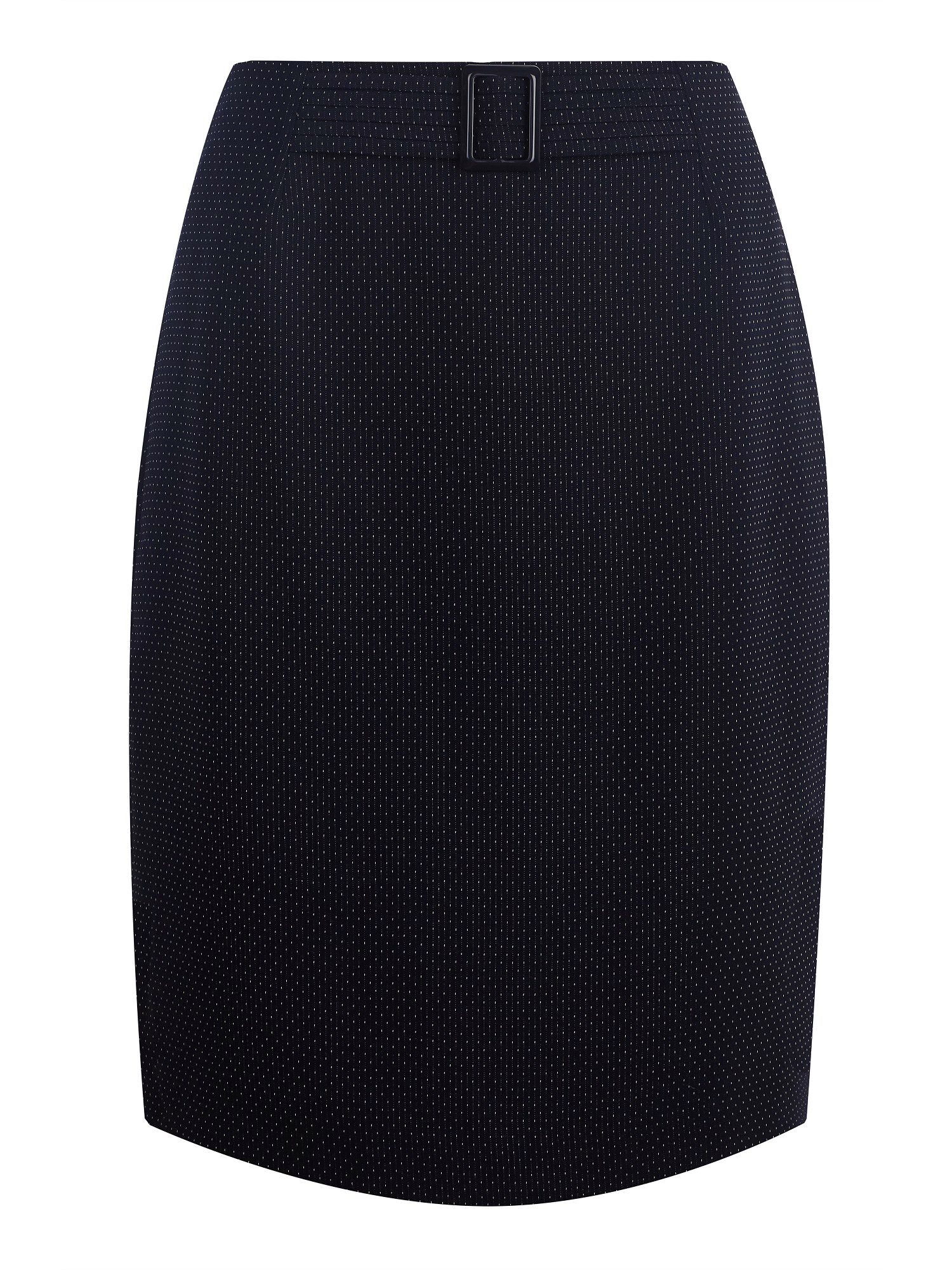 Navy pindot skirt
