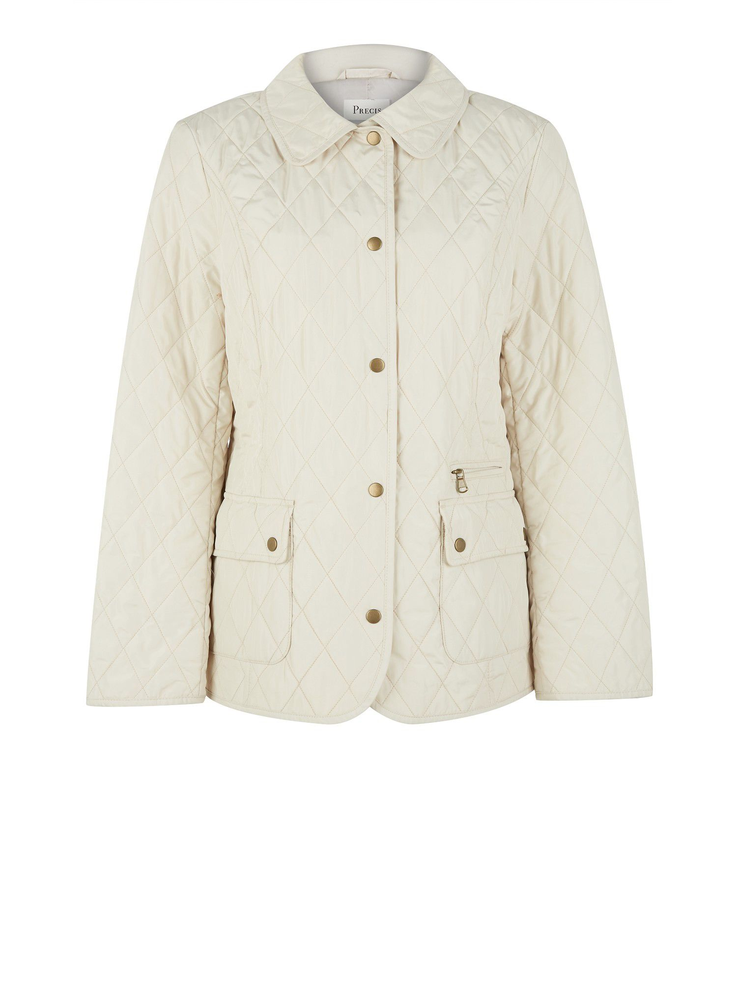 Stone quilted short coat