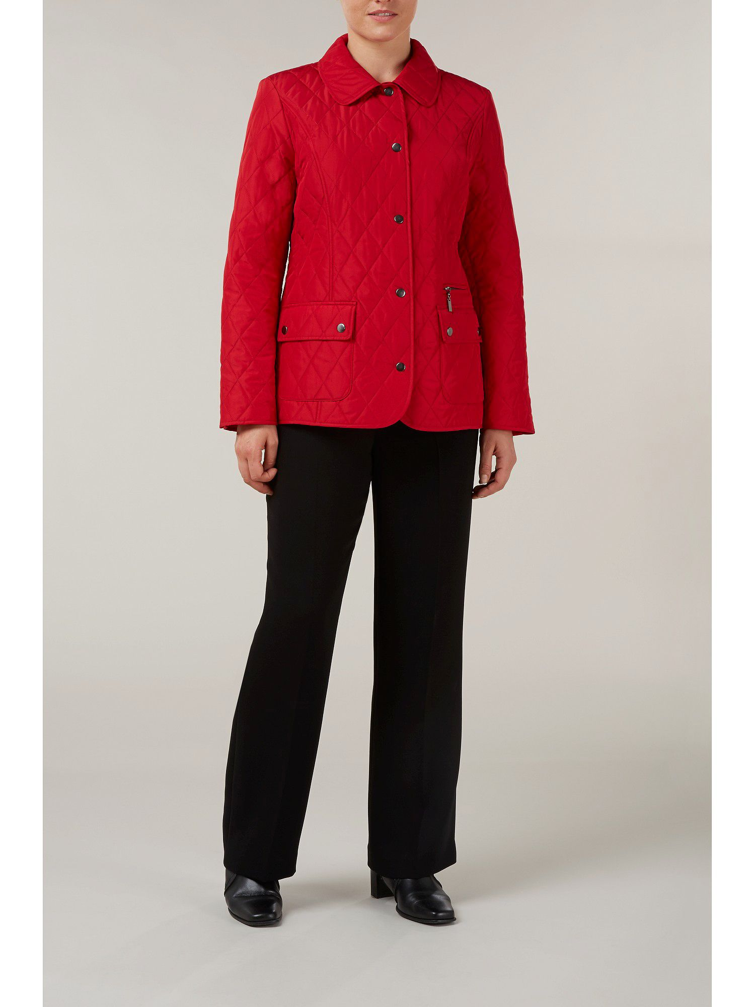 Scarlet quilted short coat