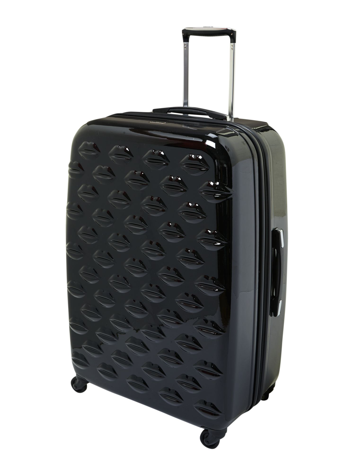 Lulu Lips black 71cm 4 wheel case light weight