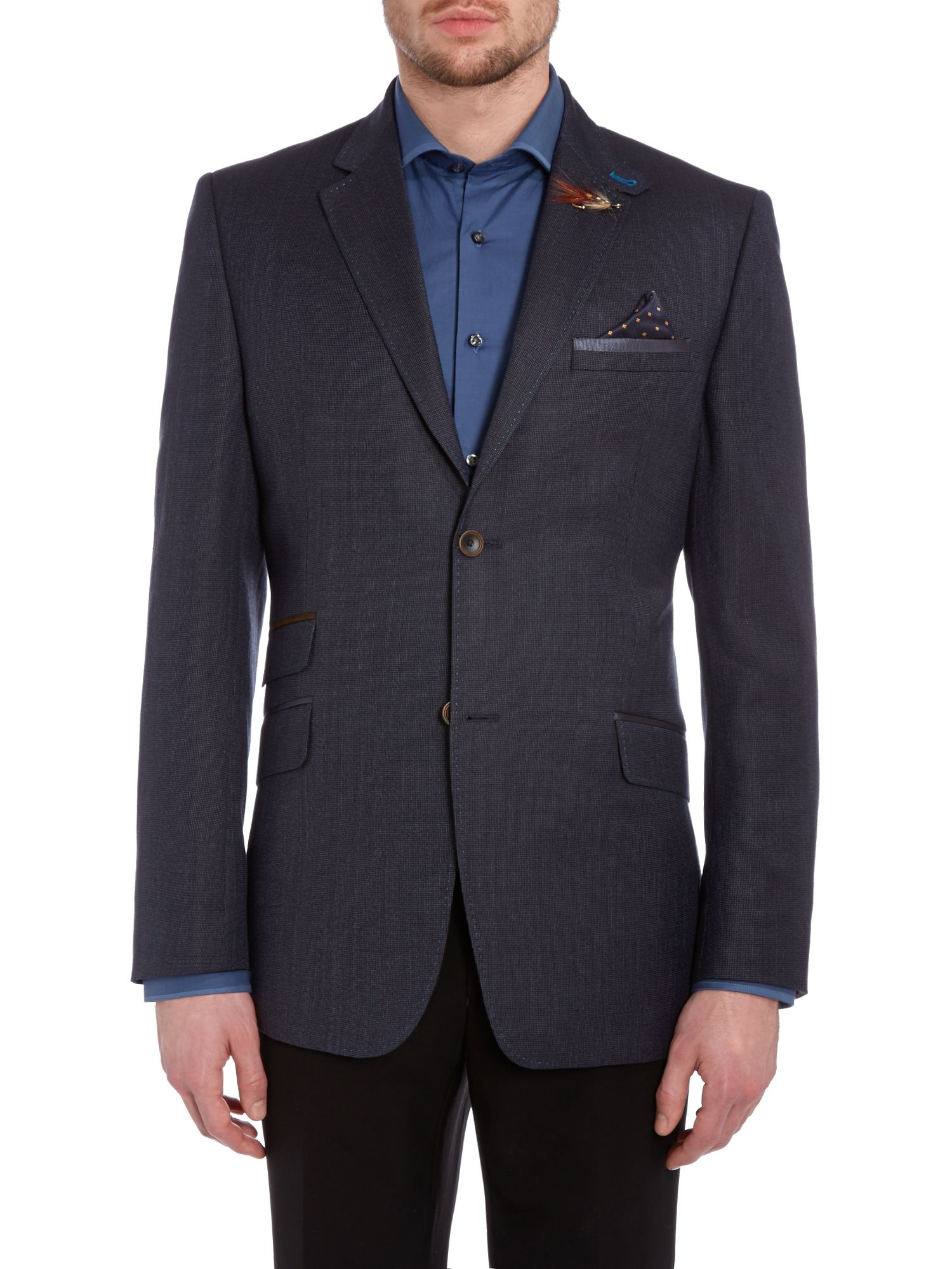 Sokups tightlines textured regular fit blazer