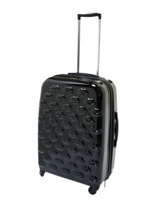 Lulu Lips black 61cm 4 wheel case light weight