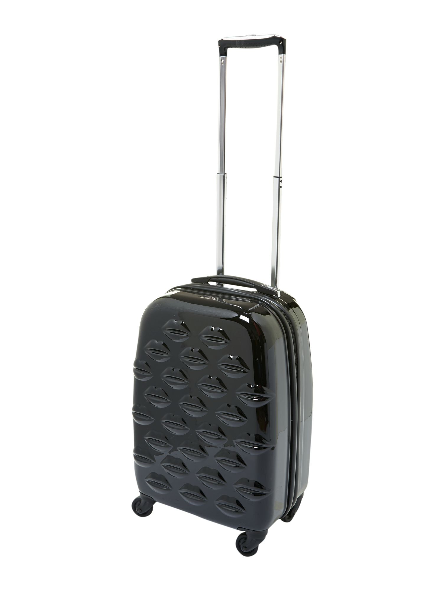 Lulu Lips black 55cm 4 wheel case light weight