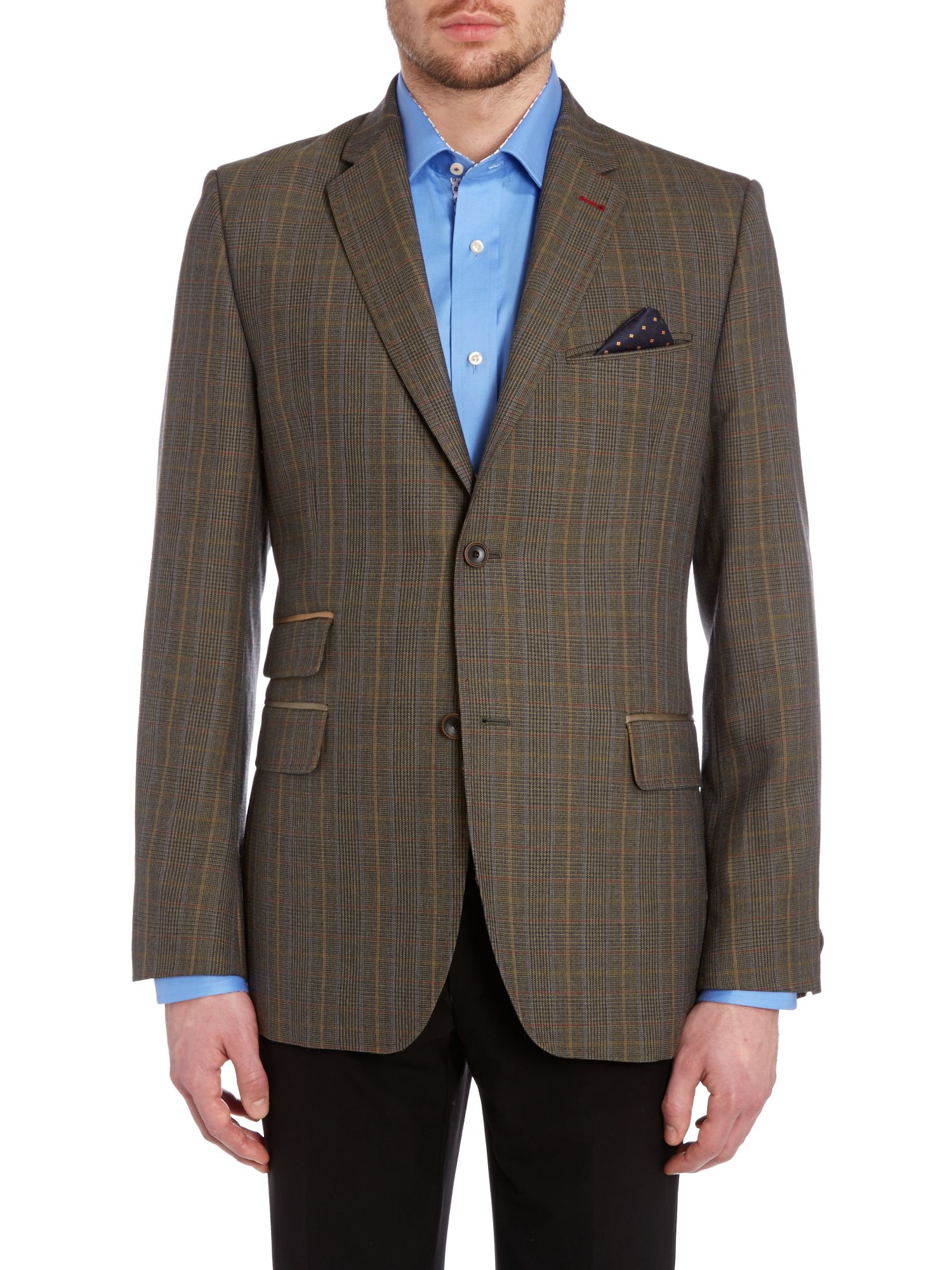 Welling tightlines regular fit check blazer