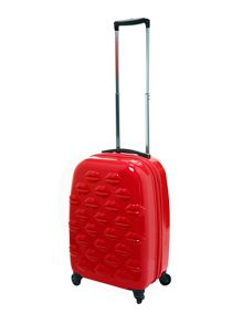 Lulu Guinness Lulu Lips red  4 wheel light cabin suitcase