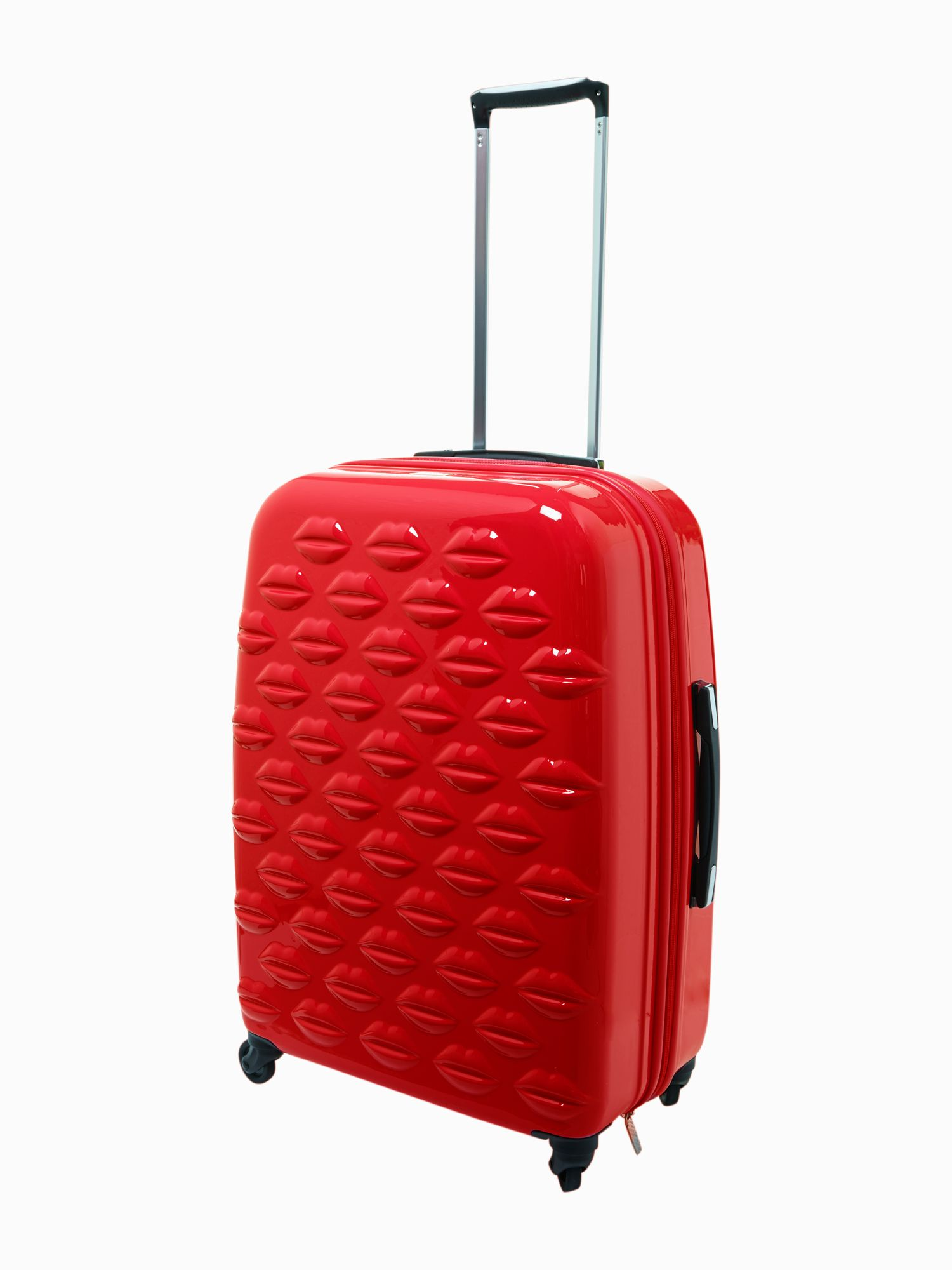Lulu Lips red 61cm 4 wheel case light weight