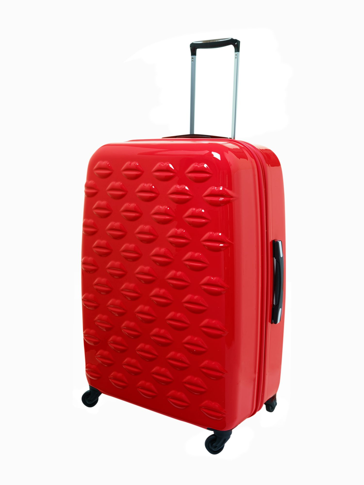 Lulu Lips red 71cm 4 wheel case light weight