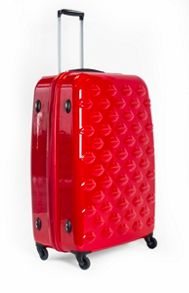 Lulu Guinness Lulu Lips red 71cm 4 wheel case light weight