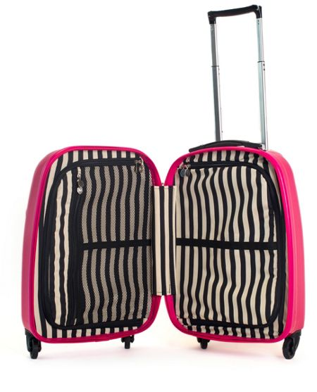 Lulu Guinness Lulu Lips pink 55cm 4 wheel case light weight