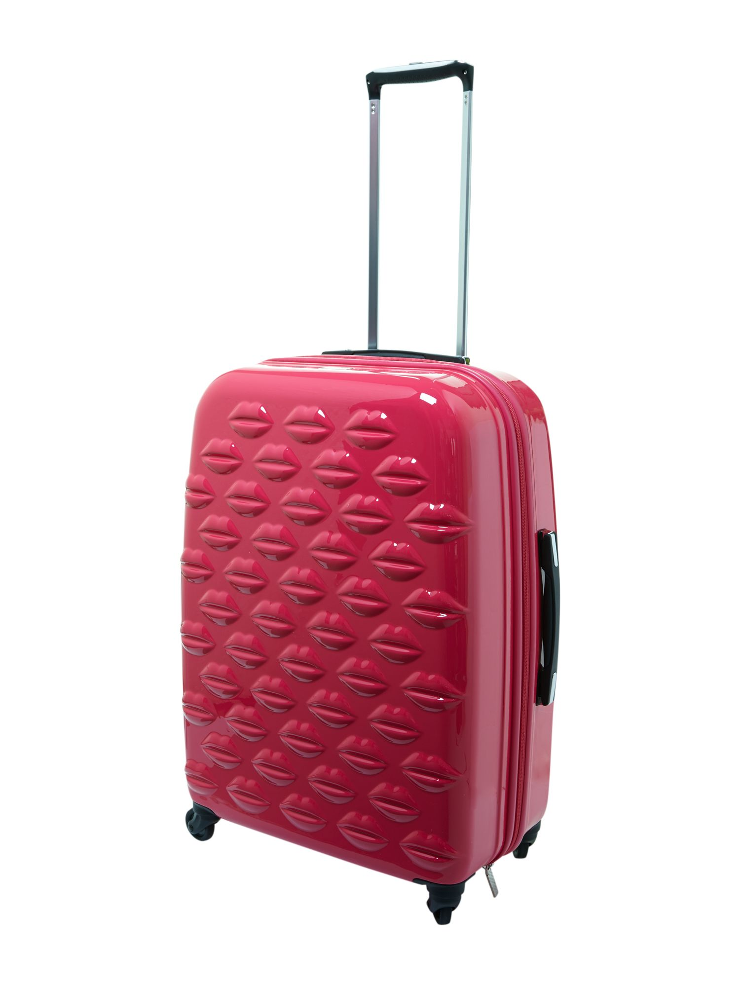Lulu Lips pink 61cm 4 wheel case light weight
