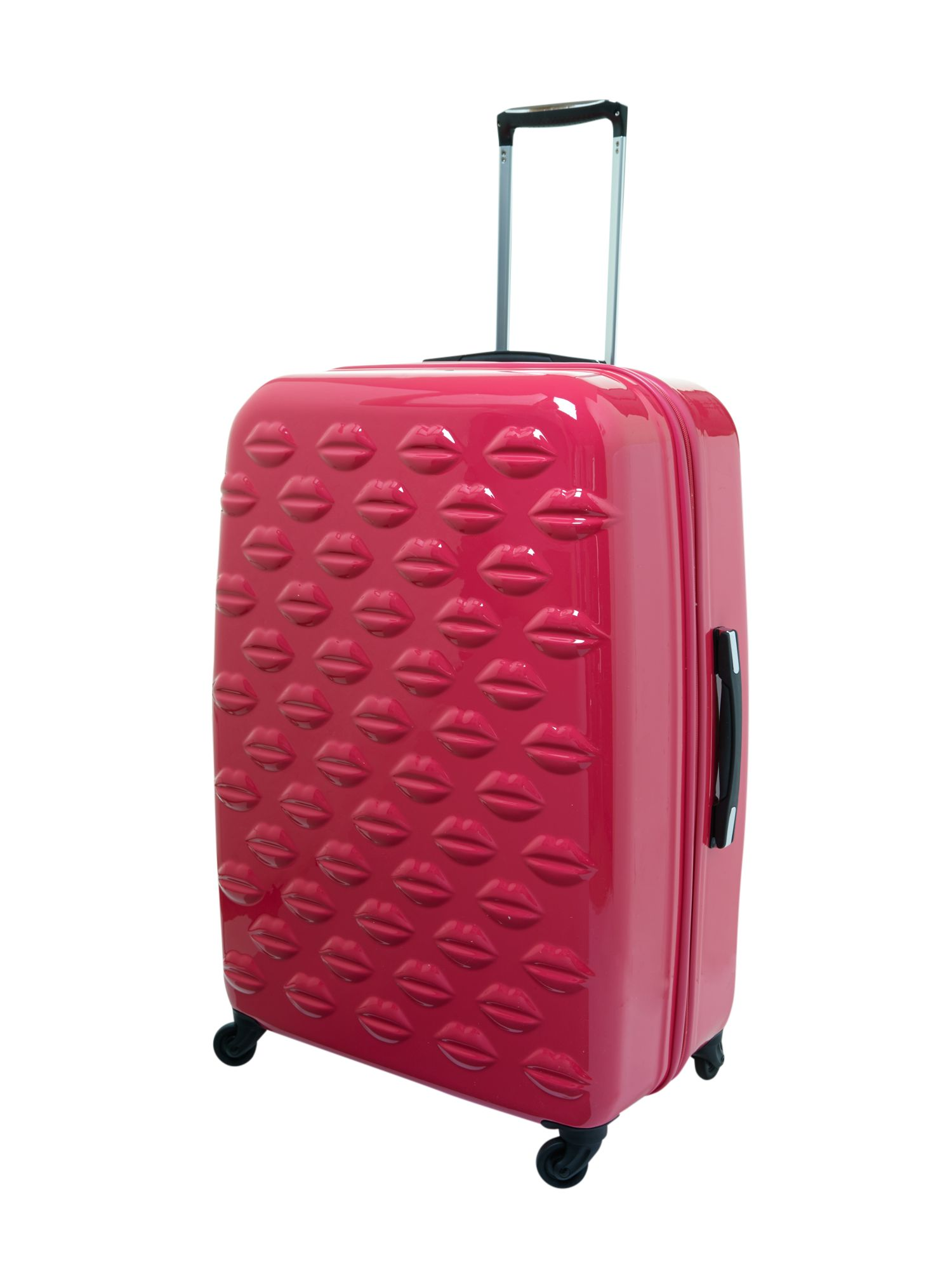Lulu Lips pink 71cm 4 wheel case light weight