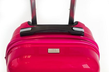 Lulu Guinness Lulu Lips pink 71cm 4 wheel case light weight