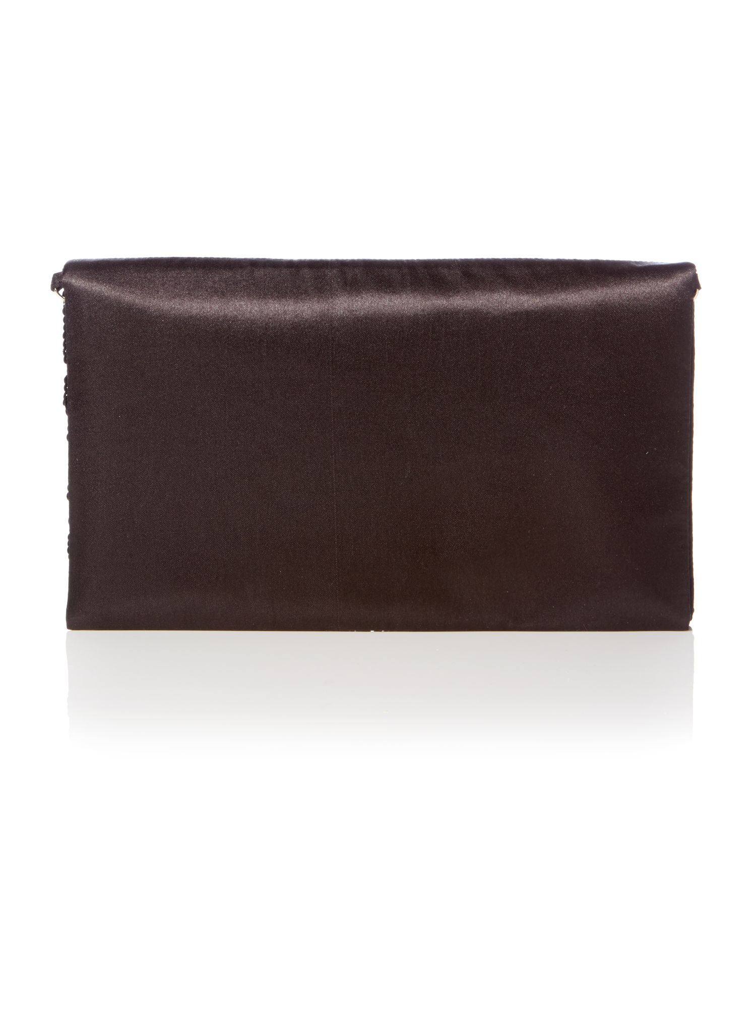 Gem flap over clutch bag