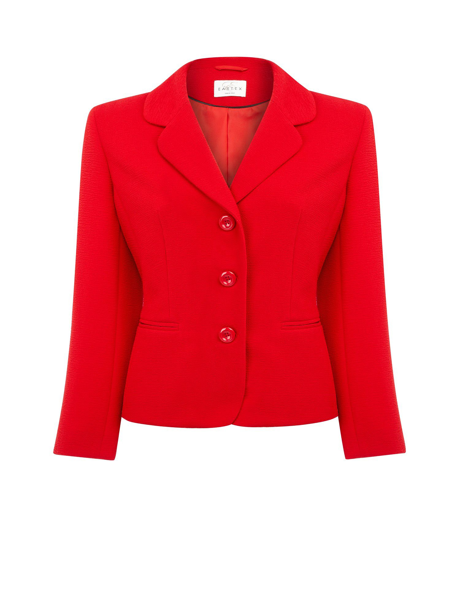Rouge crepe jacket