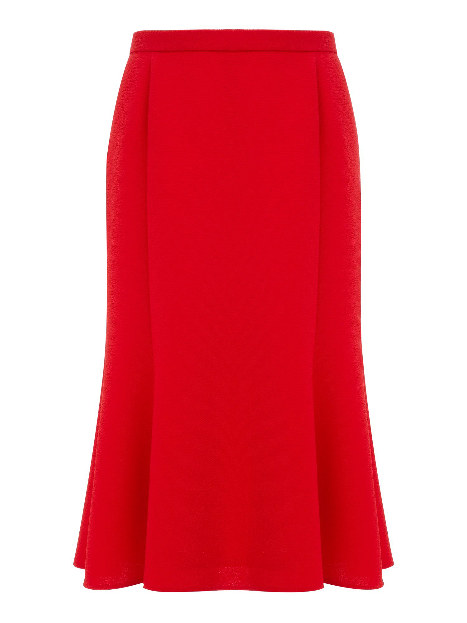 Rouge crepe skirt