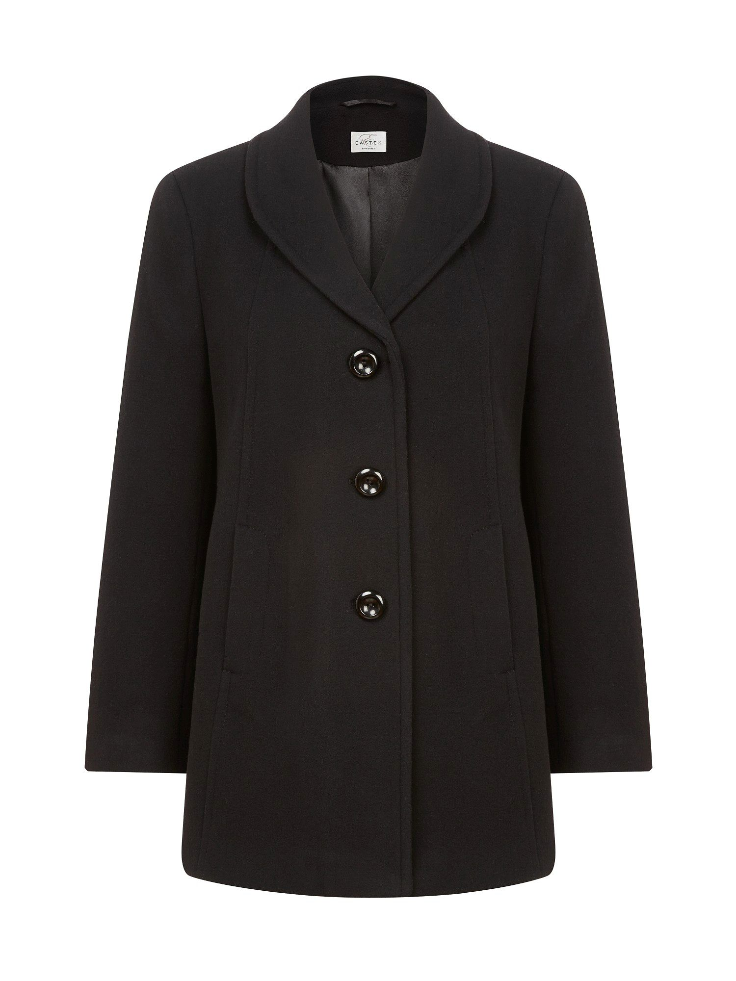 Fold back collar coat