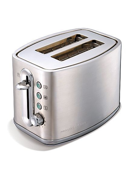 Elipta 2 slice toaster brushed stainless steel