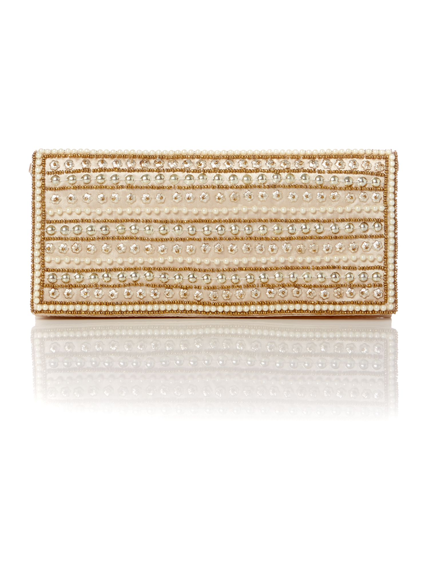 Suki beaded flap clutch bag