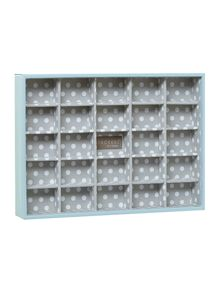 London Clock Blue polka dot jewellery box middle