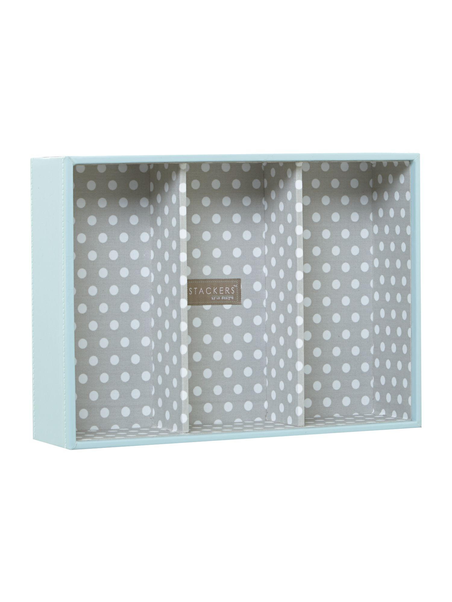 London Clock Blue polka dot jewellery box base, Blue
