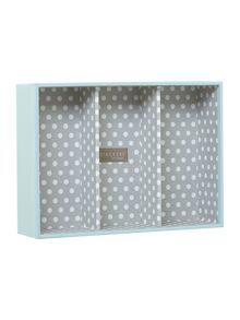London Clock Blue polka dot jewellery box base