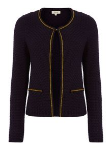 Knitted crop jacket