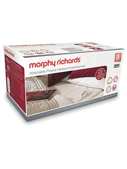Morphy Richards kingsize electric blanket 600004