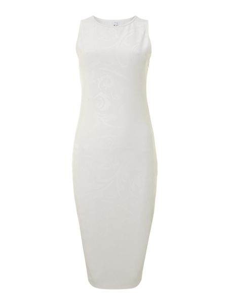 True Decadence 3d midi bodycon dress