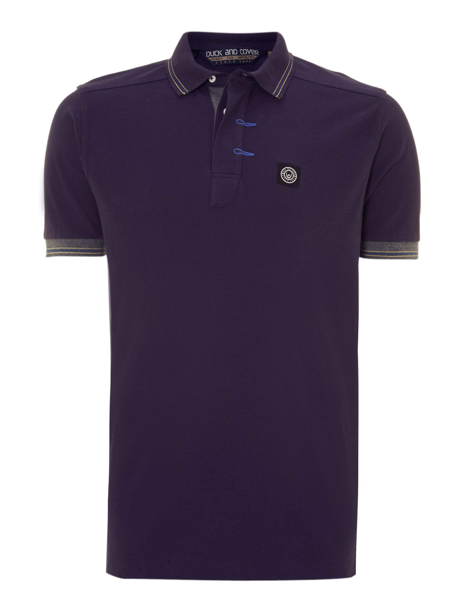 Striped collarv sterling polo