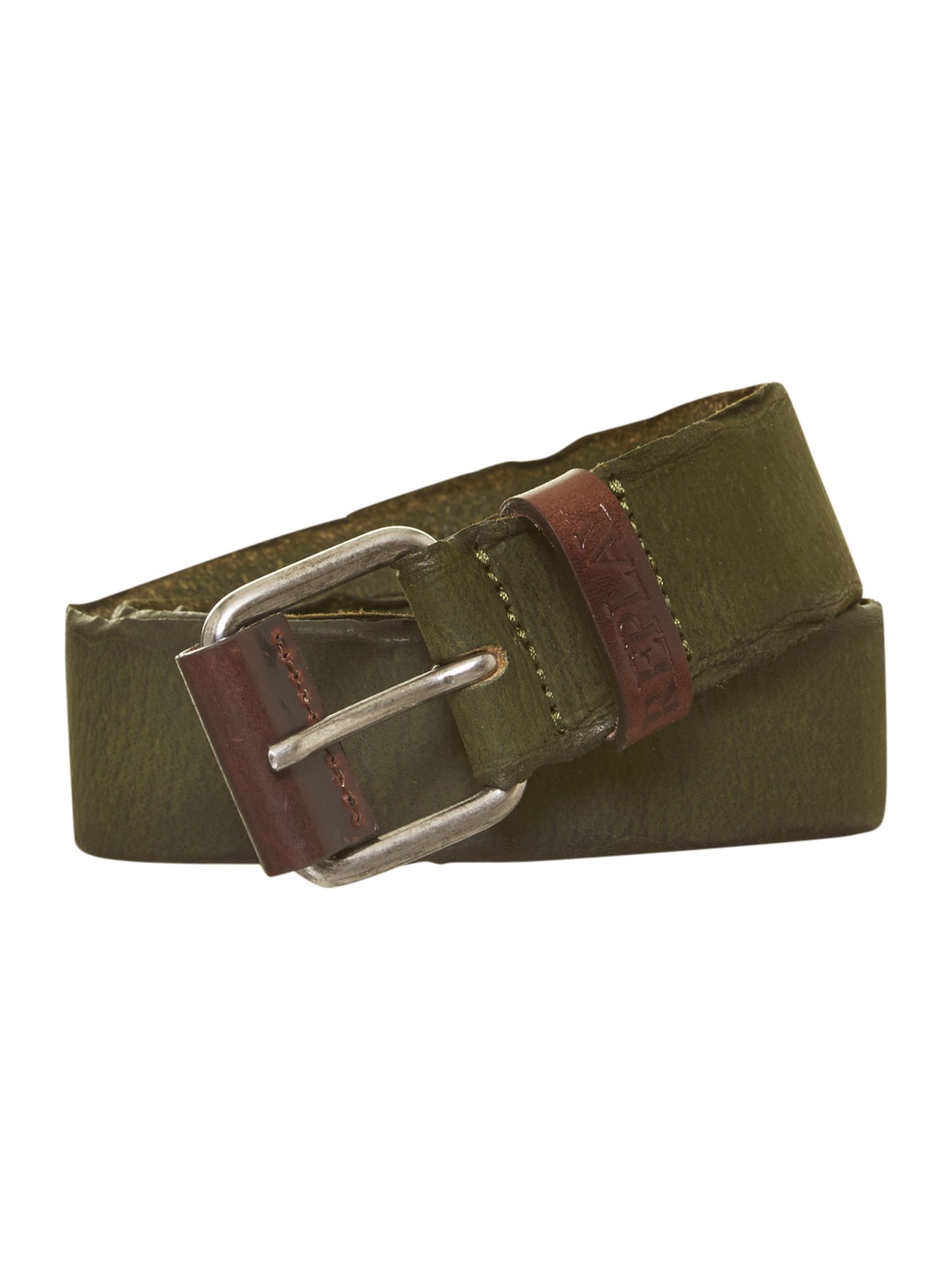 Faded leather belt