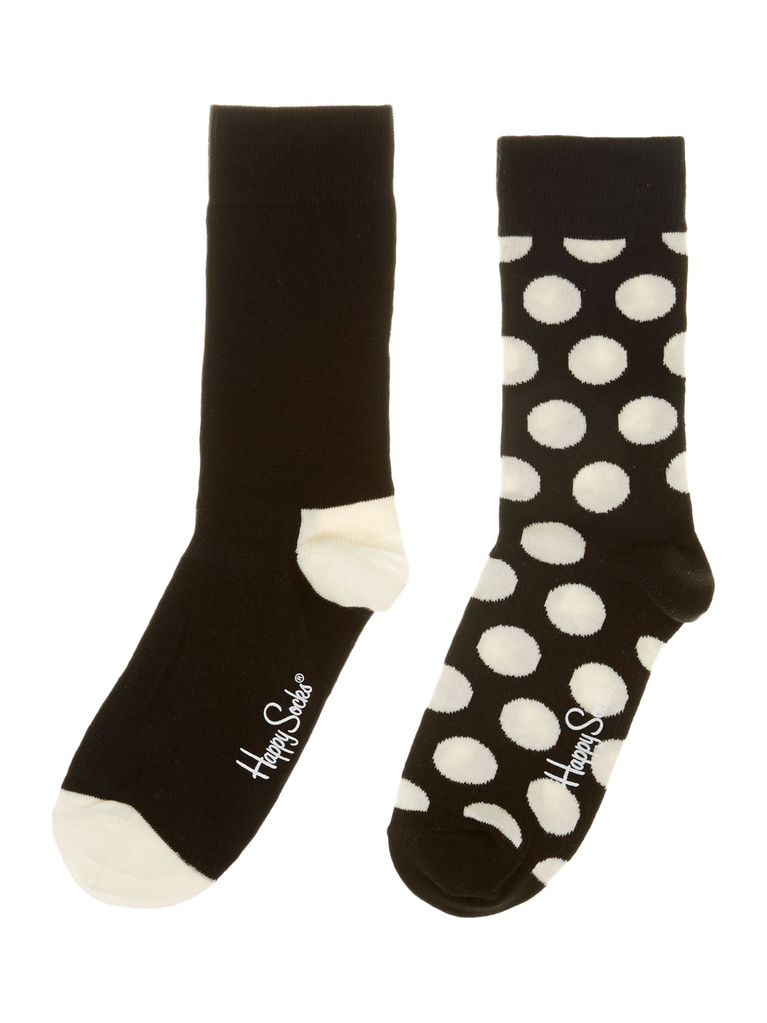 2PP Big dot & plain sock