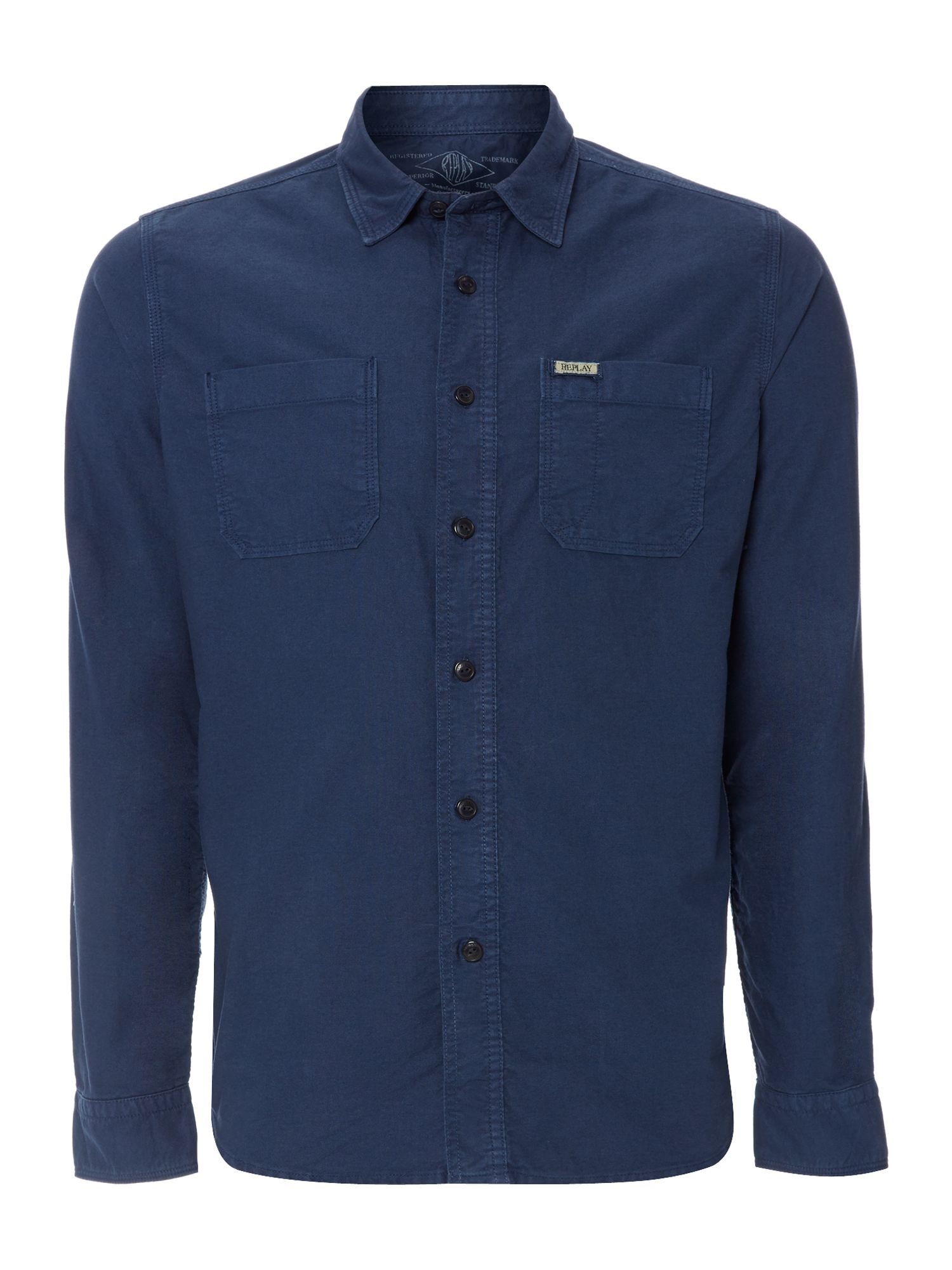 Overdyed Oxford Long Sleeve Shirt