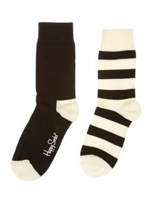 2PP Stripe colourblock ankle sock