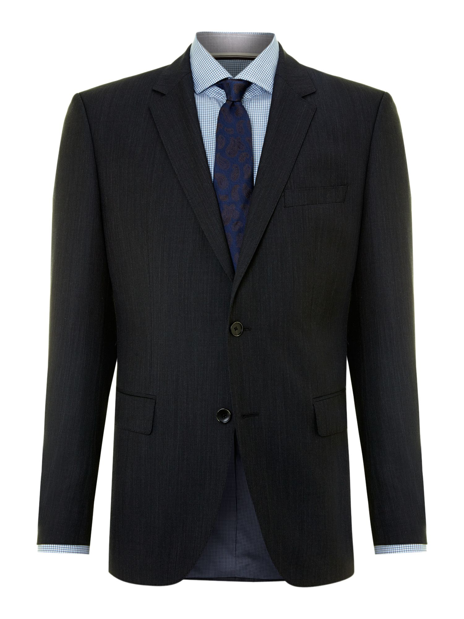 The Keys Shaft birdseye regular fit suit