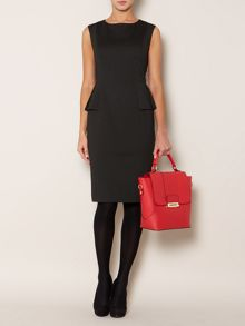 Pindot shift dress