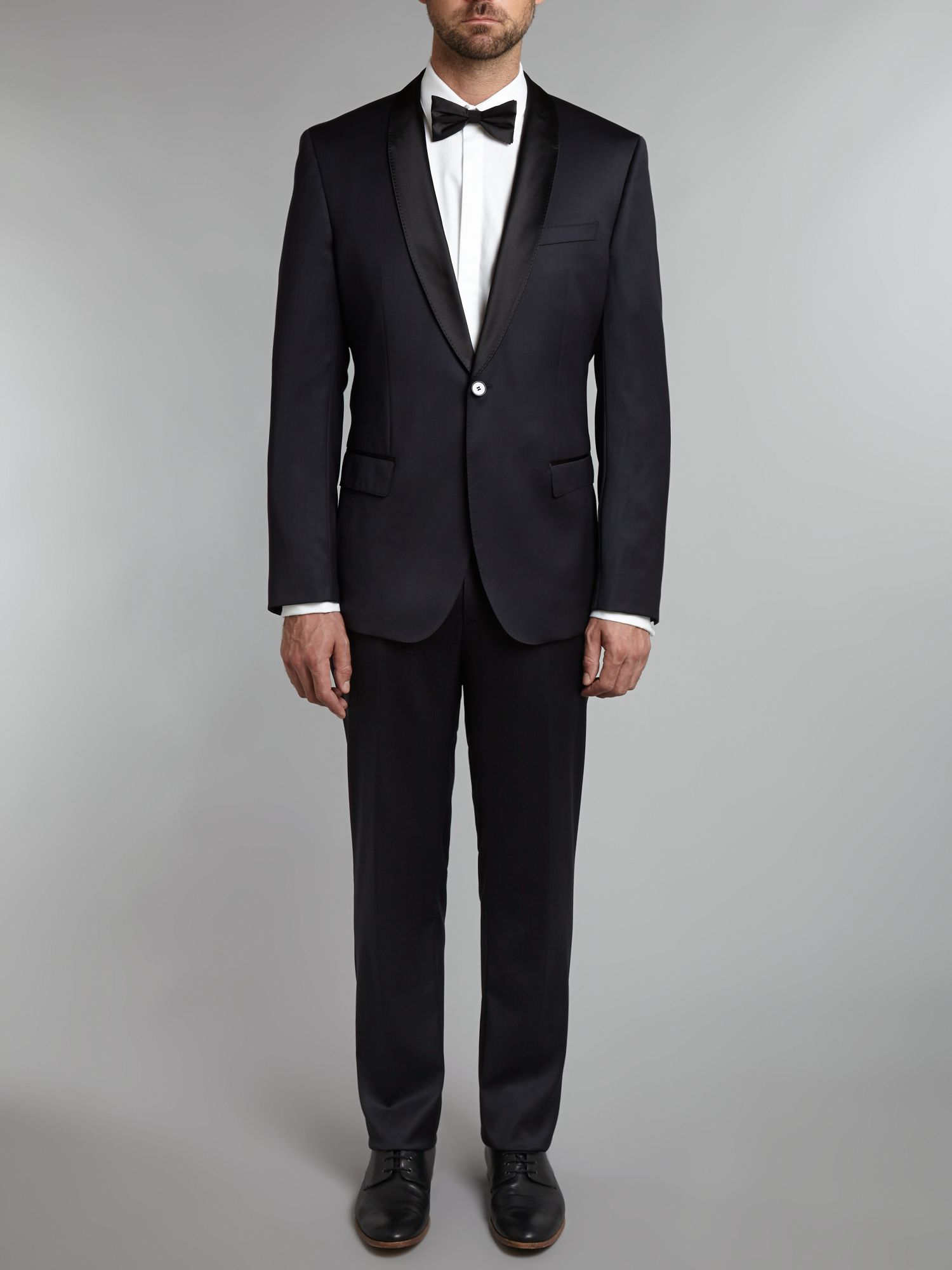 Hyats/Glare shawl collar slim fit dinner suit