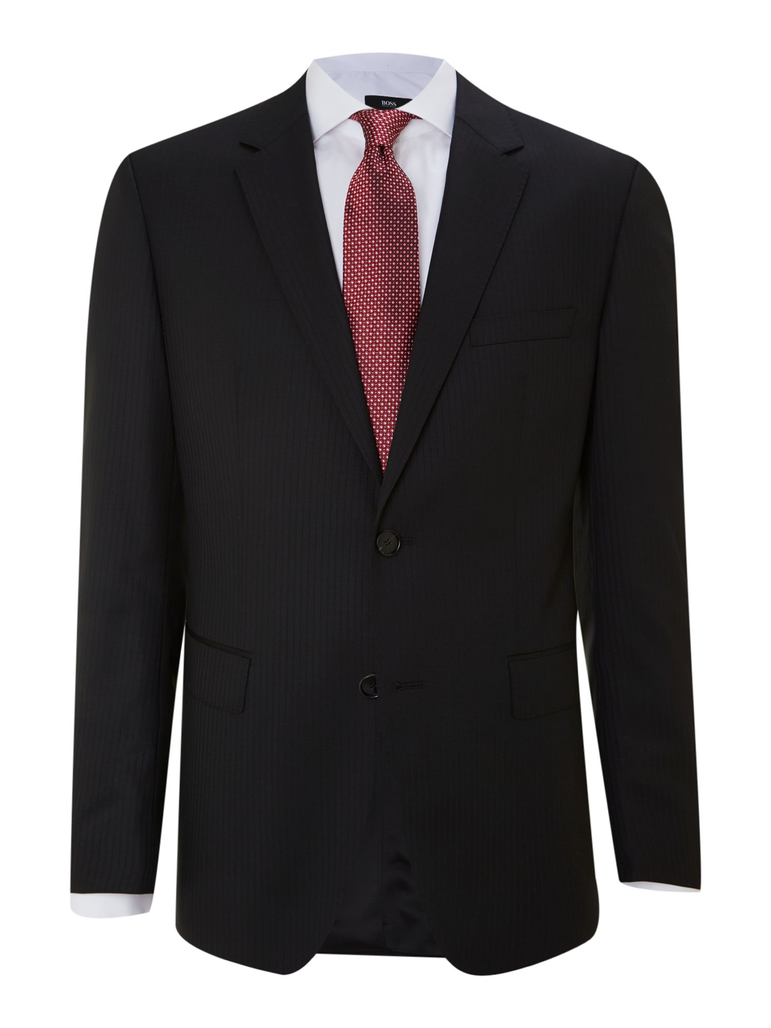 The James Sharp self stripe regular fit suit