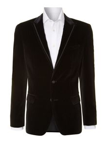 Harford velvet slim fit jacket