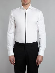 Jamison satin trim evening slim fit shirt