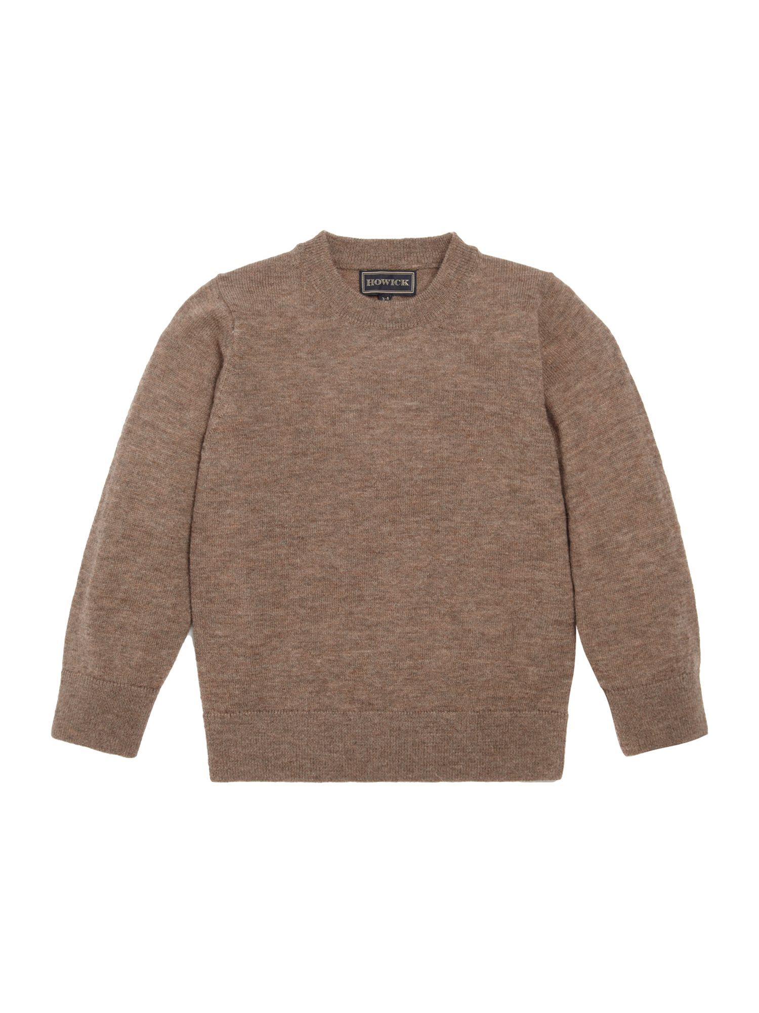 Boys lambswool crew neck jumper