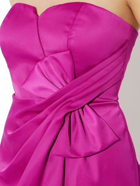 Untold Satin bow front dress