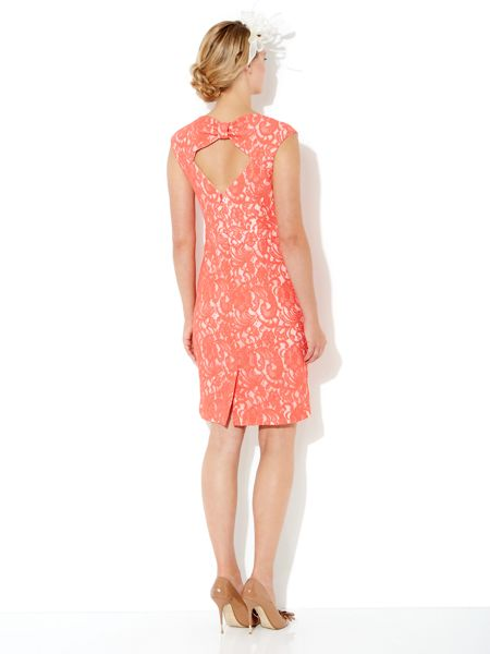 Untold Lace bow back dress