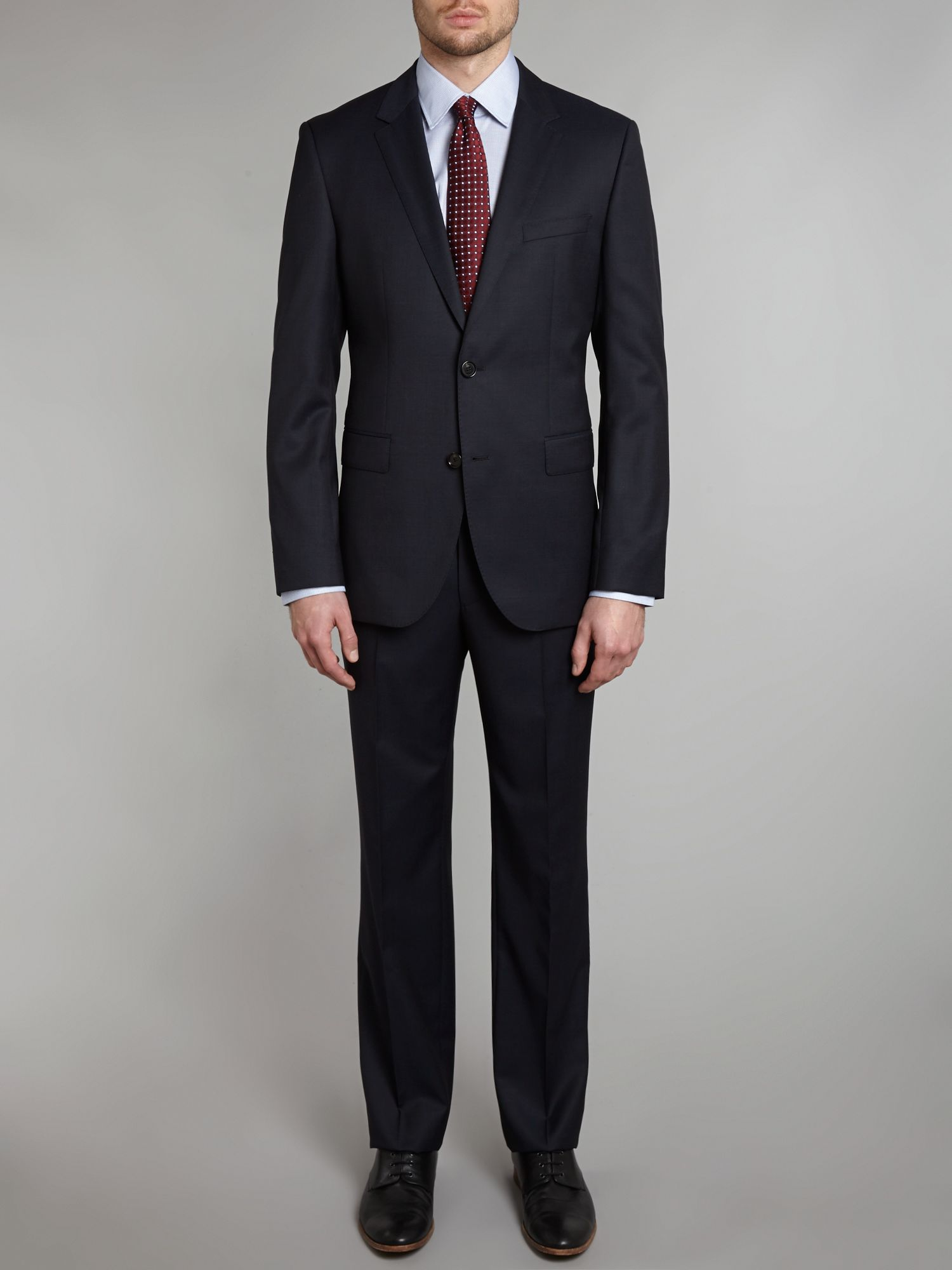 The James Sharp mini pindot regular fit suit