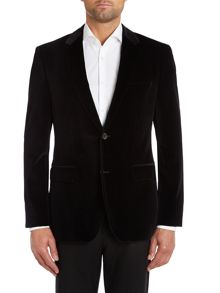 The Keys11 velvet regular fit jacket