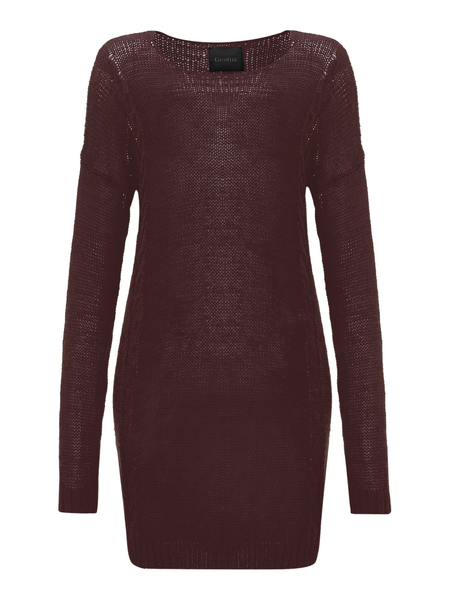 Long sleeve crew neck jumper dress