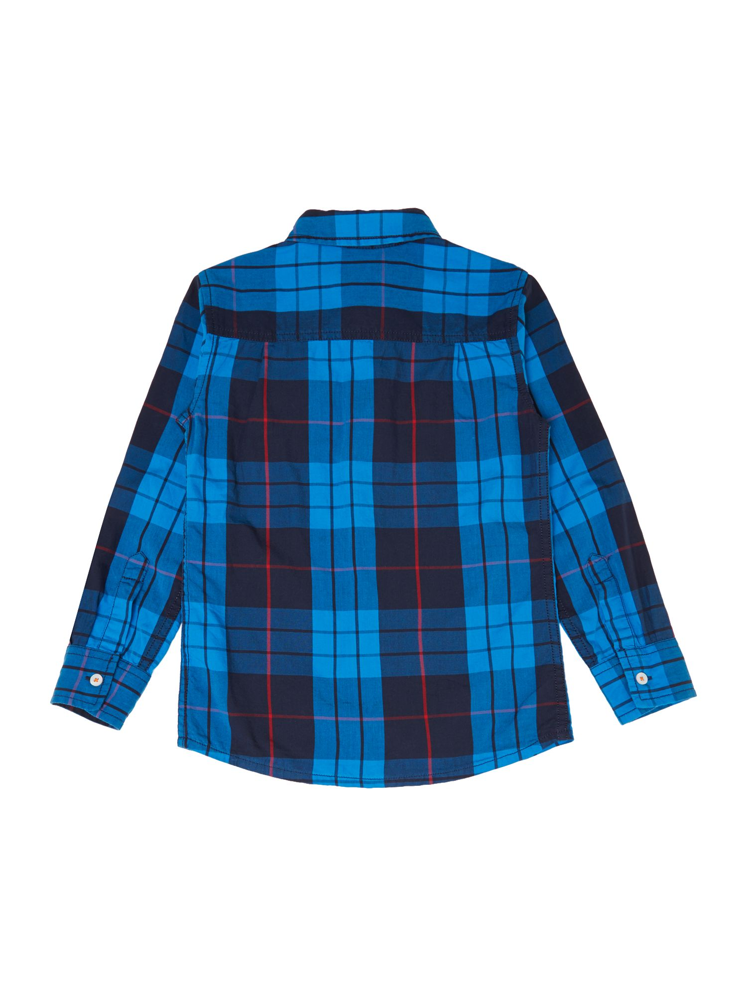 Boy`s long-sleeve check shirt