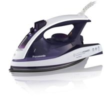 Panasonic steam iron, white/violet