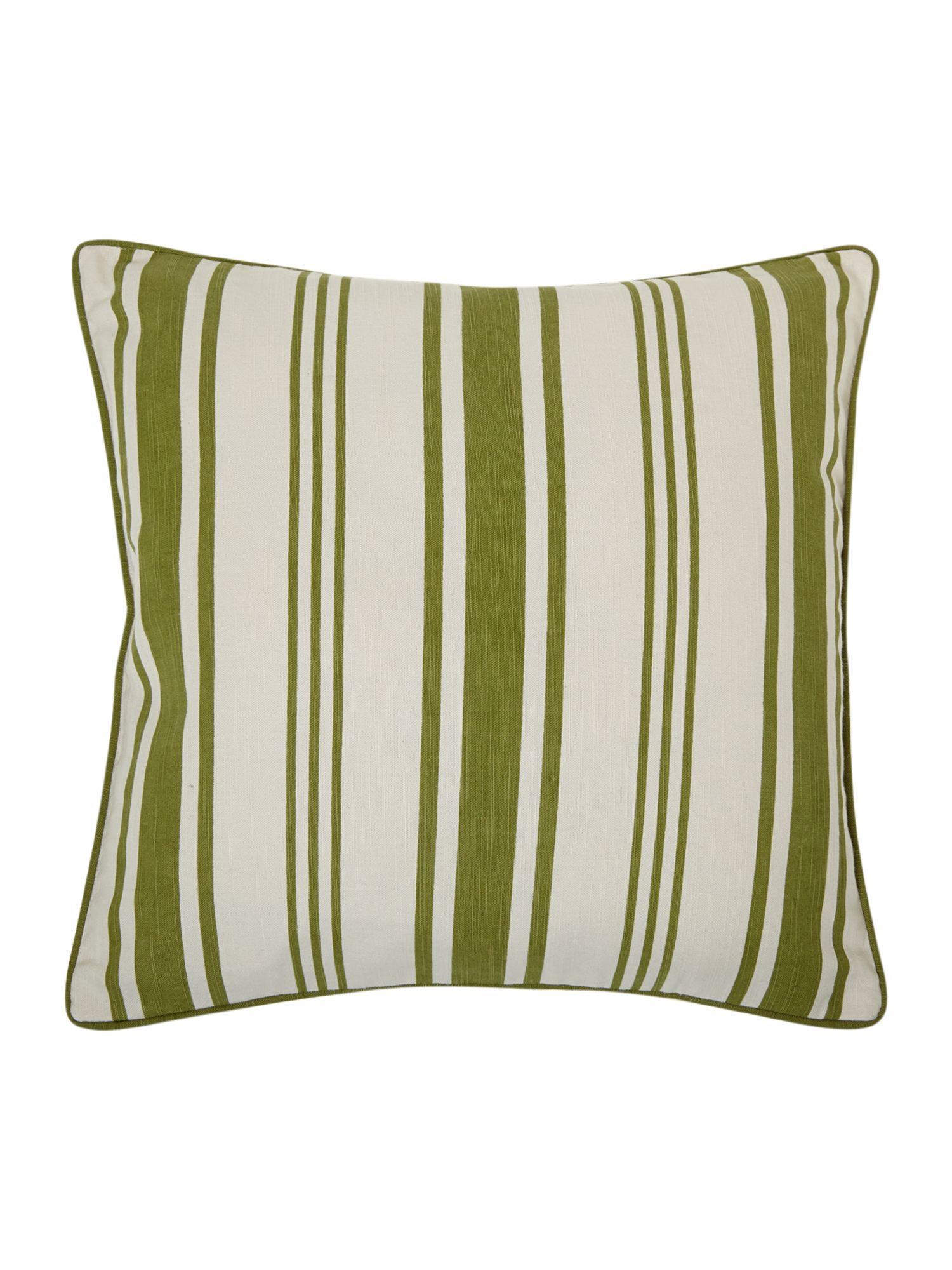 Green Stripe Print Cushion
